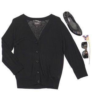 St.John Couture Black Cardigan Sweater